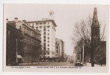 Australia, Collins Street & T & G Building Melbourne RP Postcard, B212