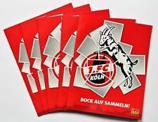 Panini 1.FC Köln - 5 x Leeralbum Bundesliga - Bock auf Sammeln!