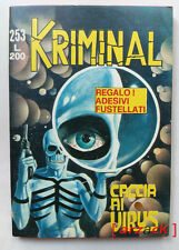 KRIMINAL n 253 Caccia ai virus CORNO 1970 con ADESIVI