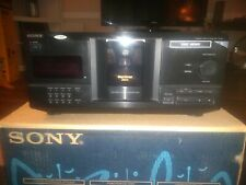 New listing Sony 200 Disc Cd Player Complete Remote + Cables + Manual Cdp-Cx220 Tested
