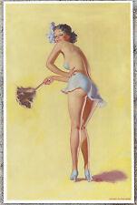 "Earl Moran Authentic Pin-Up Poster Art Print ""Dusting"" 11x17"