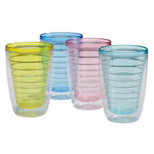 Insulated Tumblers Set Of 4 Cocktail Shakers & Bar Sets, 12OZ - 16OZ, Freeship