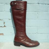 Jones the Bootmaker Leather Boots Uk 4 Eur 37 Womens Shoes Pull on Brown Boots