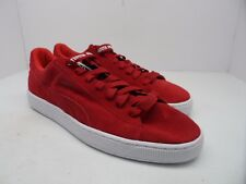 Puma Men's Suede X Trapstar Casual Shoes Barbados Cherry/White Size 12M