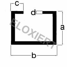 Alu C-Profil 15x28x8x2mm ELOXIERT 1 Meter Aluprofil Aluminiumprofil