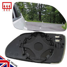 VW POLO MK4 WING MIRROR GLASS HEATED RIGHT OFFSIDE DRIVER 2005-09 CLIP  ON GLASS