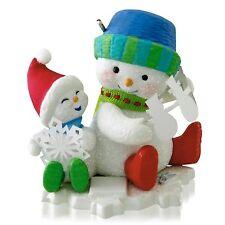 """2014 Hallmark """"Snip 'N' Clip Fun"""" Ornament - Making Memories - #7 - Snowman  5pc"""