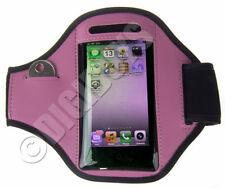 Brazaletes rosa de neopreno para teléfonos móviles y PDAs