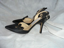 JIMMY CHOO WOMEN BLACK SATIN  BUCKLE STRAP  SANDALS  SIZE UK 4.5 EU 37.5 VGC