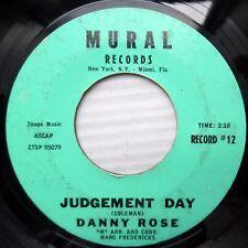 DANNY ROSE obscure male vocal pop 45 JUDGEMENT DAY / FOOL'S PARADISE JR659