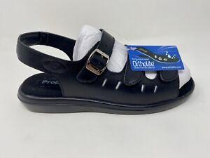 Propet Women's W0001 Breeze Walker Sandal, Black Grain, 9 M, Free Shipping!