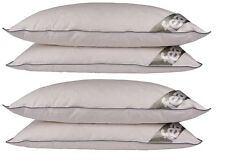 4 x Duck Feather & Down Pillows Non-Allergenic Medium / Soft Support ~ 15% Down