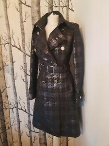 Karen Millen wool Trench Coat Uk 8 Us 4 Eu 36