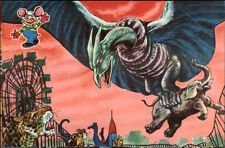 Japan Japanese Monster Movie Art Vintage 1950s-60s Color Postcard #3 gfz