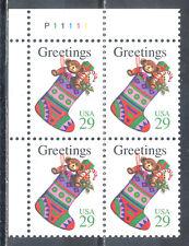 US Stamp (L188) Scott# 2872, Mint NH OG, Nice Plate Block, Christmas