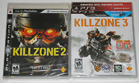 PS3 Game Lot - Killzone 2 (New) Killzone 3 (New)