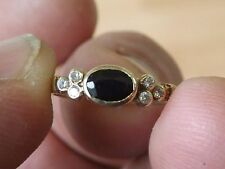 BELLISSIMO ZAFFIRO in ORO 9 carati Pietra Set Anello-UK Taglia M