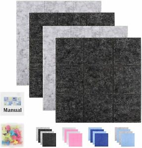 SEG Direct 60x60cm 23.6x23.6inch Large Square Felt Pin Memo Board Wall Mountable