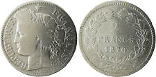 GOUV  DÉFENSE NATIONALE   2  FRANCS  CERES  ARGENT 1870  K  ÉTOILE  SANS LEGENDE