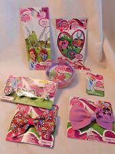 Nwt ~ My Little Pony ~ Girl'S Hair Accessories & Jewelry Lot ~ Bows, Rings, Neck