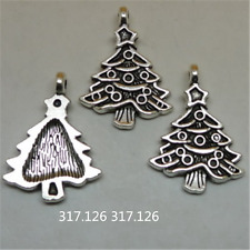 15X Tibetan Silver Christmas tree Charm Pendant Beads Jewellery Craft   GU937