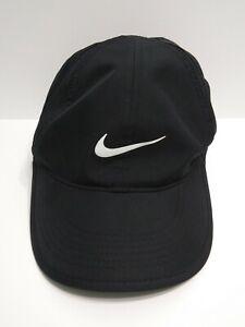 Nike Feather Light DriFit Black Hat Cap Running Adjustable