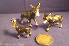 Porzellanfiguren,Tierfamilie, Esel mit 2 Fohlen,Fine Bone China aus Japan