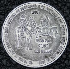 1968 BUFFALO DAYS REGINA SASK. TOKEN - Buffalo Buck - Huge - Nice - RCMP - NCC