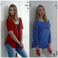 Knitting Pattern DONNA MESH GIOGO Cardigan E Maglione LISCIO DK 4831