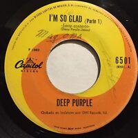 "Deep Purple I'm So Glad Estoy Contento single 7"" 45rpm Mexico Press 1969 Psych"