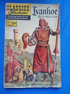 CLASSICS ILLUSTRATED No. 2 IVANHOE by Sir Walter Scott