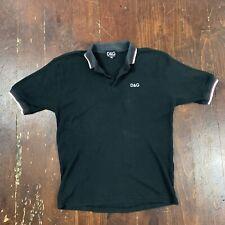 Dolce & Gabanna Polo Shirt Black 34/48 Fits Sz. Men's Large L