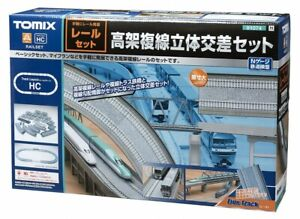 Tomix 91074 Fine Track Viaduct Double Track Intersection Pattern HC N scale