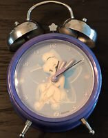 Disney's Tinkerbell Twin-Bell Blue Alarm Clock (Battery Operated)