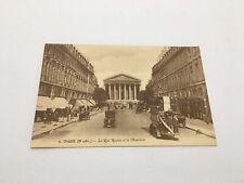 Paris La Rue Royale Et La Madeleine Ernest Antique Cars Carte Postale France