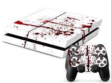Sony PS4 Playstation 4 Skin Design Aufkleber Schutzfolie Set - Blood Motiv