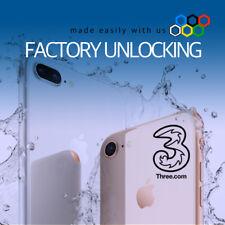 iPHONE X 8+ 8 7+ 7 THREE 3 HUTCHISON UK UNLOCK CLEAN IMEI (CARPHONE WAREHOUSE)