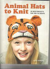 Animal Hats to Knit  ~ Knitting Book  ~ BRAND NEW  ~  20 patterns
