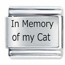IN MEMORY OF MY CAT - Daisy Charms by JSC Fits Classic Size Italian Charm Bracel