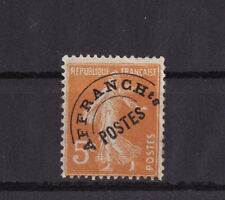 timbre France préoblitéré   semeuse   5c  orange   n° 50  **
