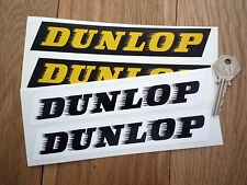 """DUNLOP 'Speed-Straked' 50's Style Classic CAR STICKERS 7"""" Pair Race Rally Tyres"""