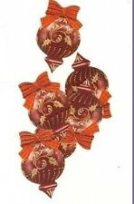 PK 6 XMAS BAUBLES EMBELLISHMENT TOPPERS 4  CARDS