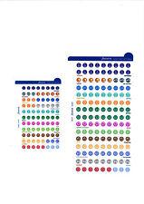 Filofax grandi DIARIO ORGANIZER ADESIVI RICARICA Multifit (Personal A5 A4) 130137