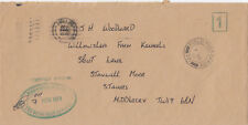 (18933) CLEARANCE GB Cover Kings Division Royal Irish Rangers FIELD PO 7 No 1979