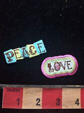 PEACE & LOVE Patch Bling Decoration-2 Of The Christian Fruits Of The Spirit 76V4