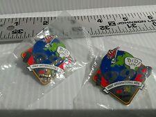 1999 Ebay FIRST INTERNATIONAL SITE eBay 10 YEARS Lapel Hat Pin LOT of 2