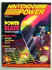 NES NINTENDO POWER Magazine POWER BLADE ~SIM CITY POSTER ATTACHED