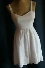 Jodi Kristopher Juniors Size 1 White Sun Dress With White Floral Embroidery.