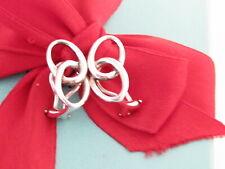 Tiffany & Co Silver Peretti Double Interlocking Clip-on Earrings