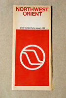 Northwest Orient Airlines System Timetable - Jan 9, 1984